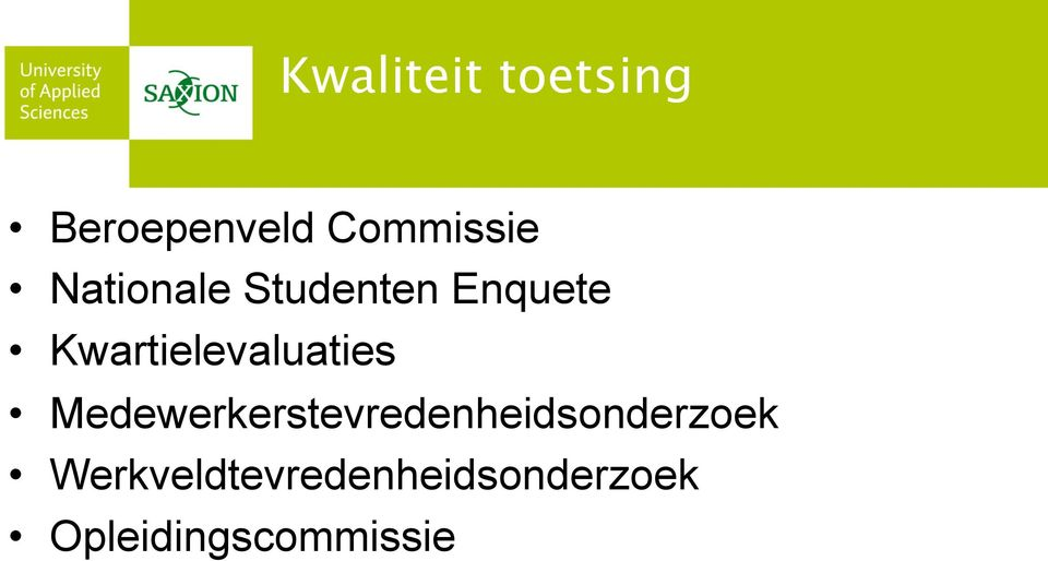 Kwartielevaluaties