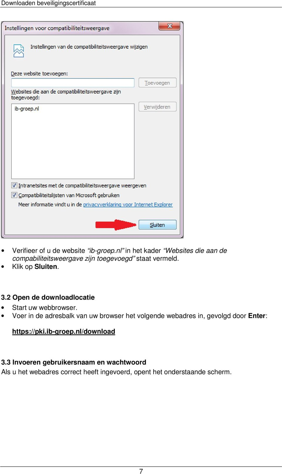 3.2 Open de downloadlocatie Start uw webbrowser.
