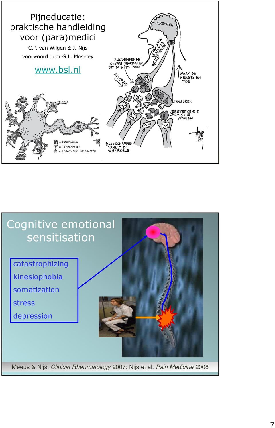 13 Cognitive emotional sensitisation catastrophizing kinesiophobia somatization
