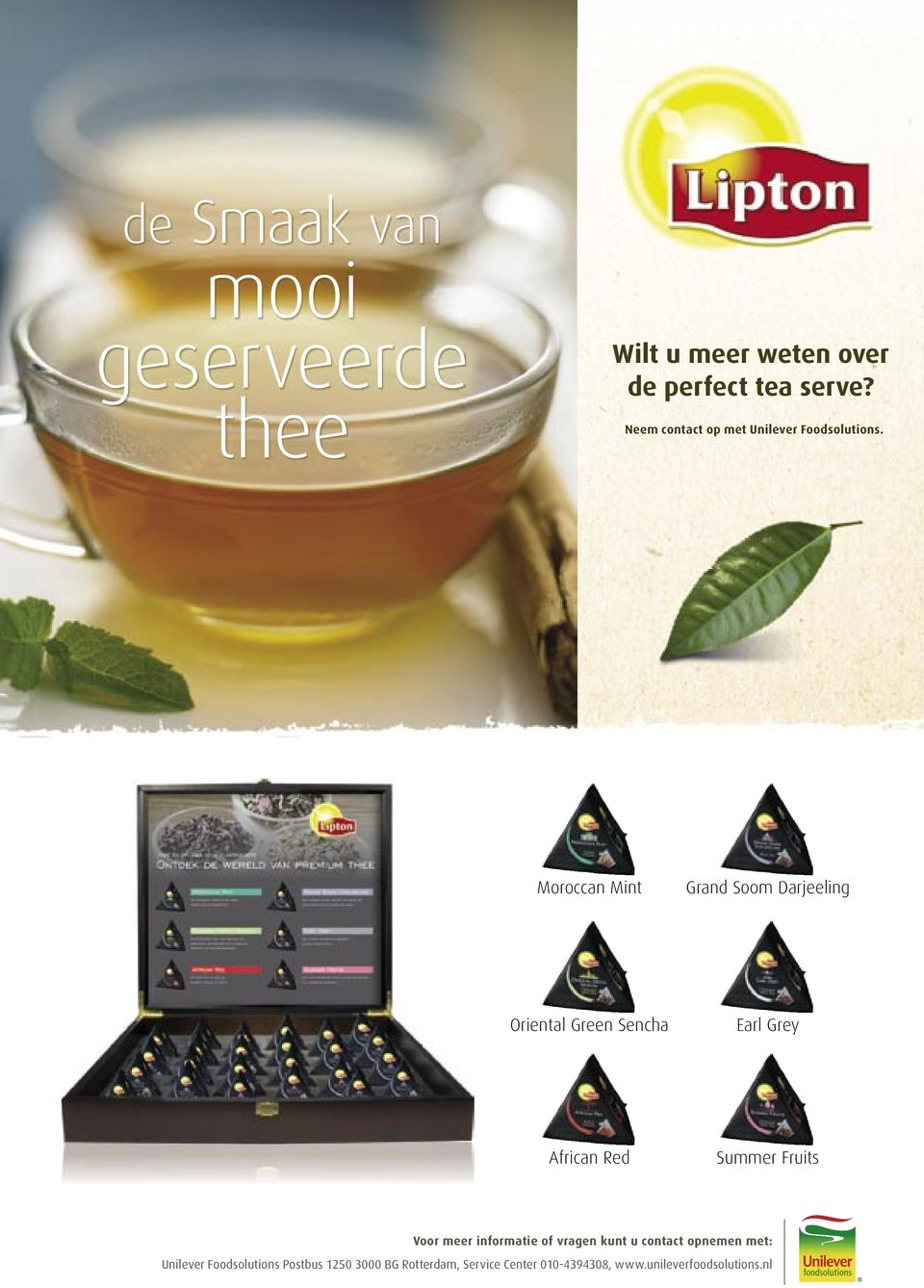 Moroccan Mint Grand Soom Darjeeling Oriental Green Sencha Earl Grey African Red Summer Fruits