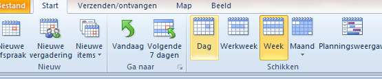 Outlook op Agenda.