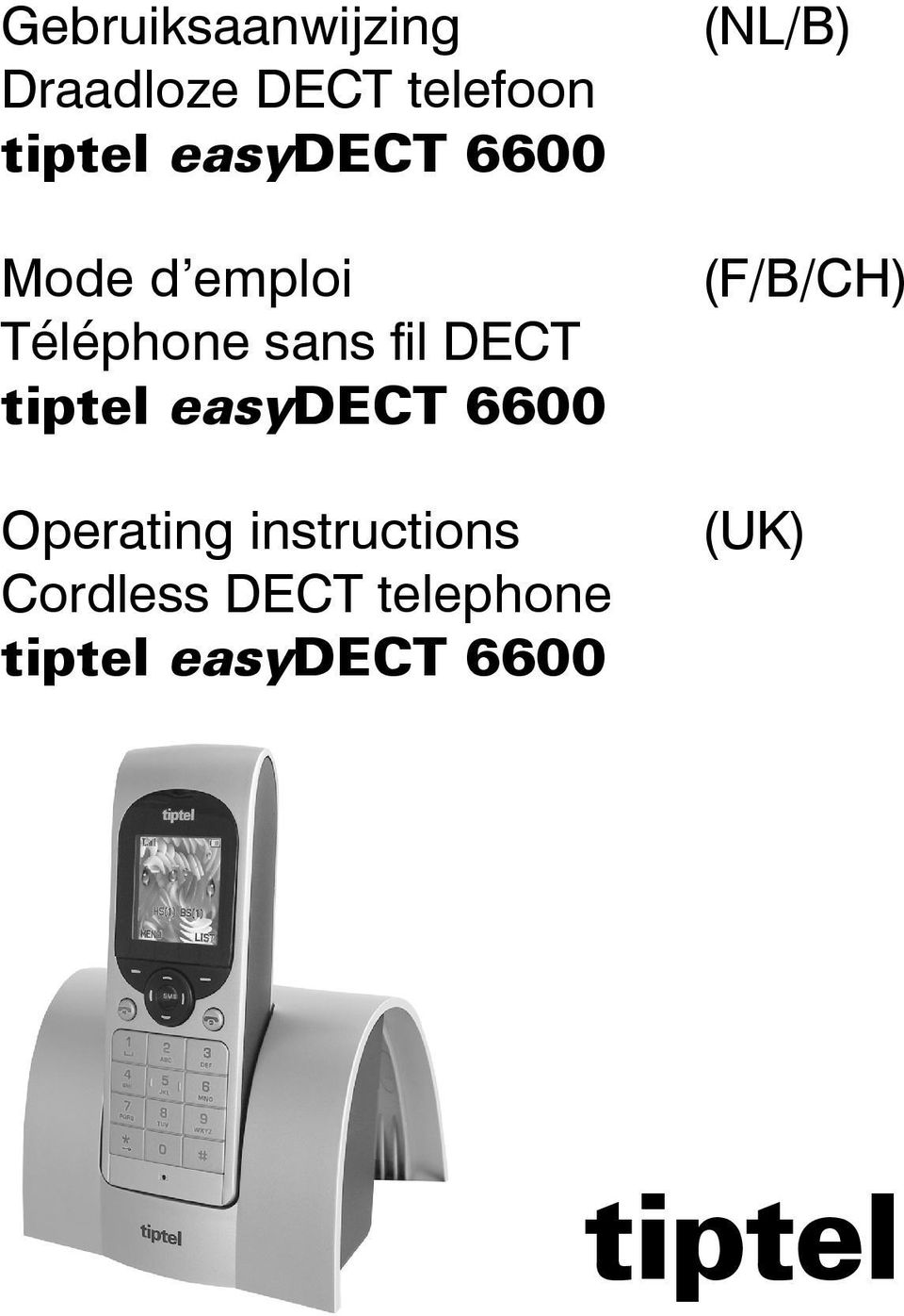 tiptel easydect 6600 Operating instructions Cordless