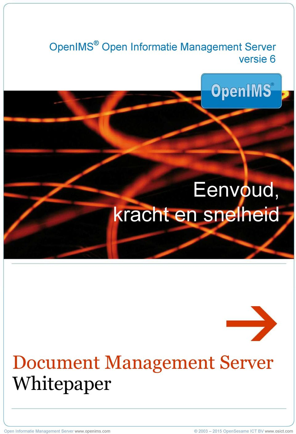 Server Whitepaper Open Informatie Management Server