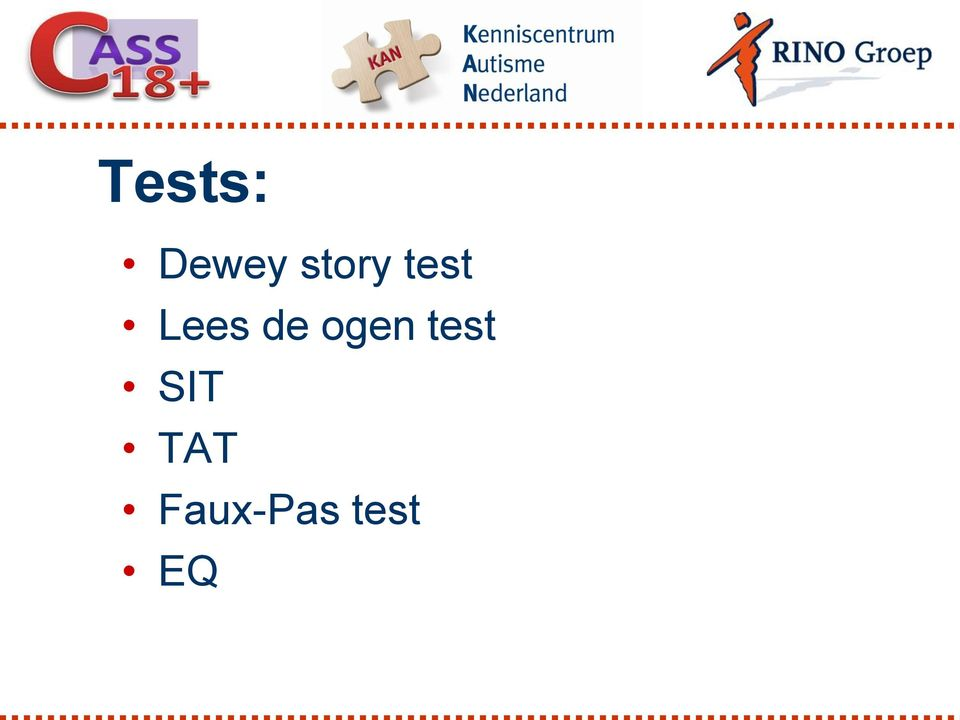 de ogen test SIT