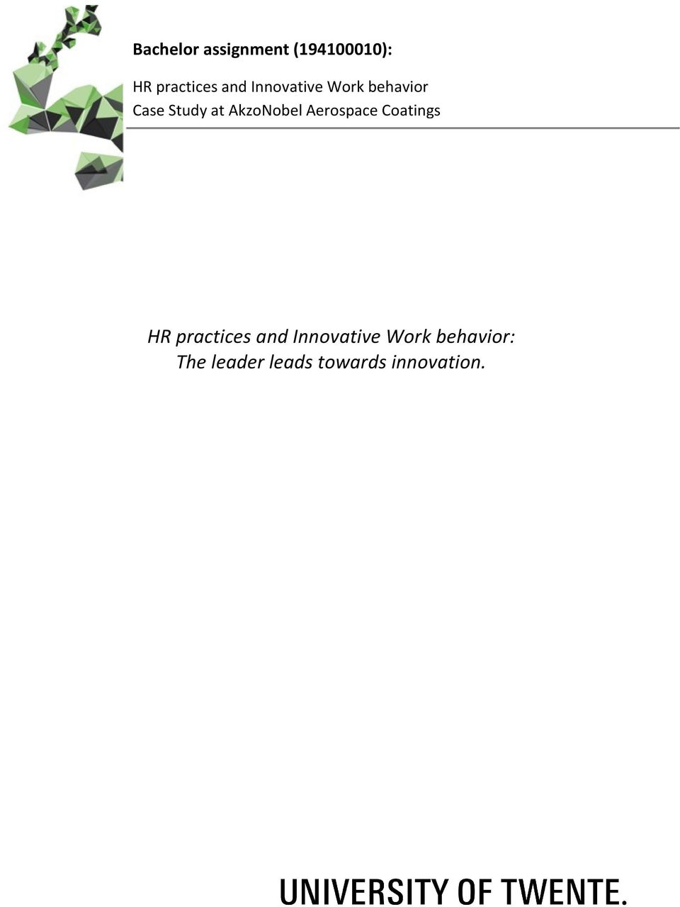 Aerospace Coatings HR practices and Innovative