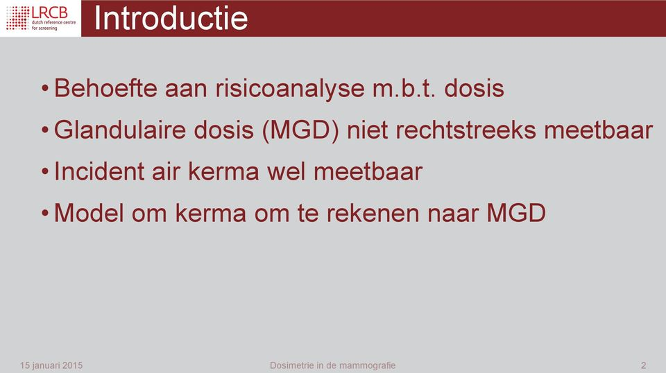 meetbaar Incident air kerma wel meetbaar Model om