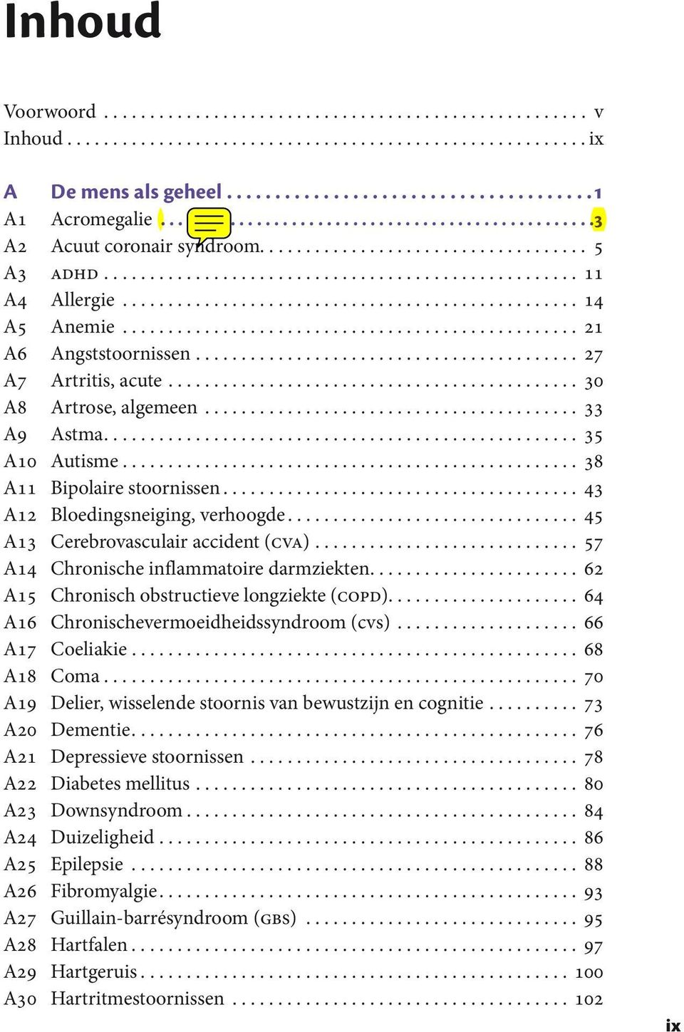 ................................................. 14 A5 Anemie.................................................. 21 A6 Angststoornissen.......................................... 27 A7 Artritis, acute.