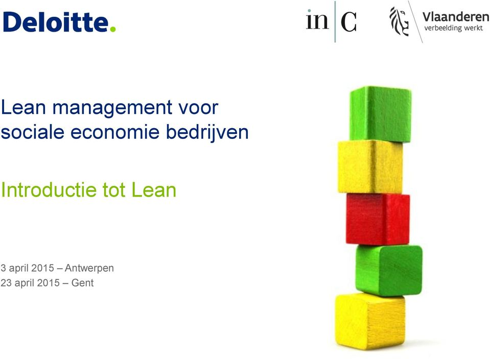 Introductie tot Lean 3