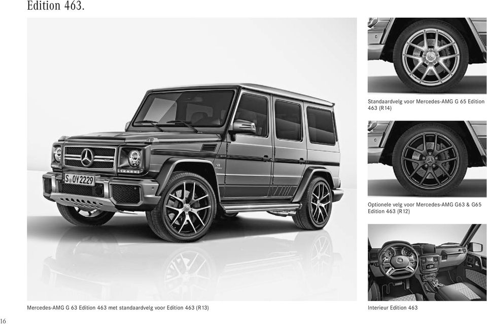 Optionele velg voor Mercedes-AMG G63 & G65 Edition 463