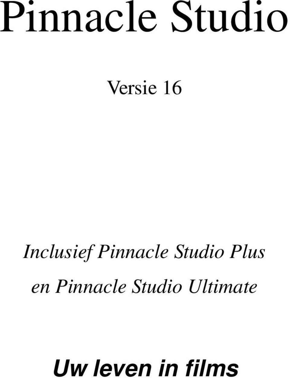 Plus en Pinnacle Studio