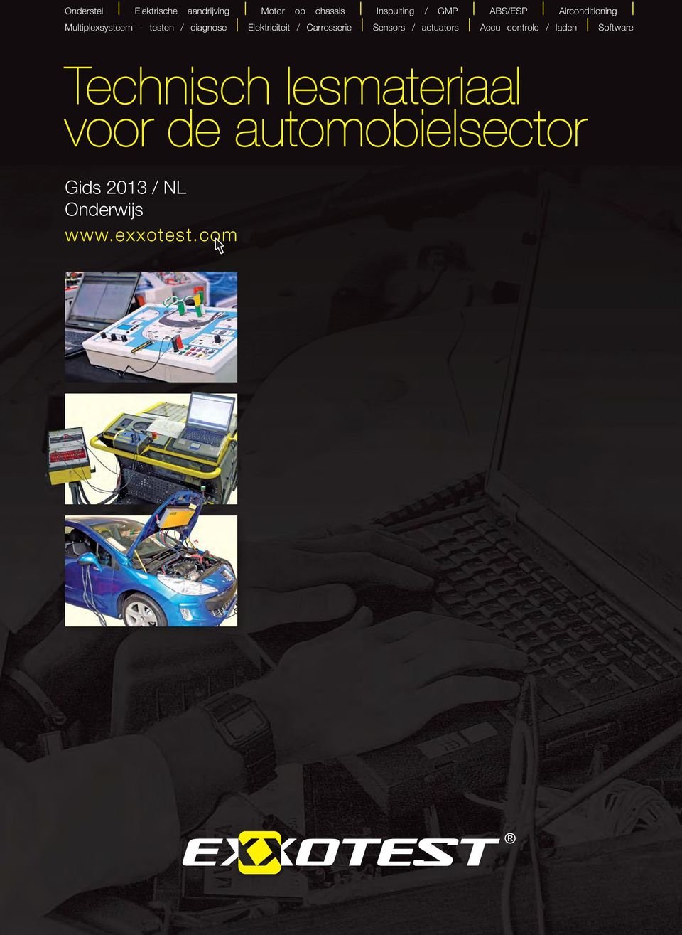 / Carrosserie Sensors / actuators Accu controle / laden Software Technisch