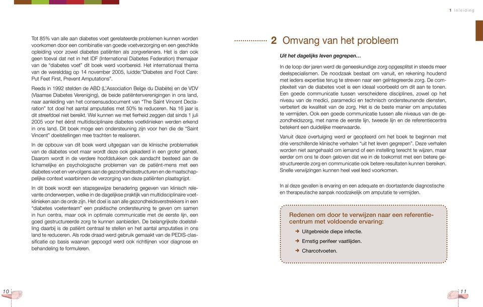 Het internationaal thema van de werelddag op 14 november 2005, luidde: Diabetes and Foot Care: Put Feet First, Prevent Amputations.