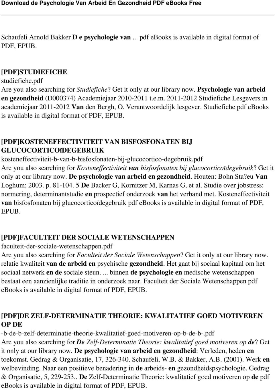 Verantwoordelijk lesgever. Studiefiche pdf ebooks is available in digital format of PDF, EPUB.