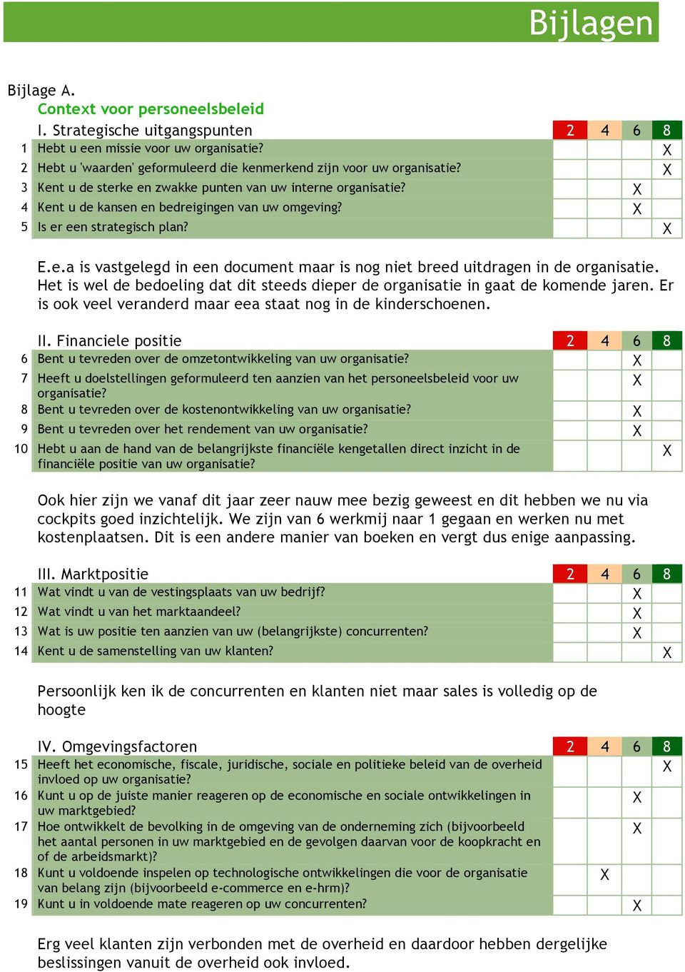 5 Is er een strategisch plan? E.e.a is vastgelegd in een document maar is nog niet breed uitdragen in de organisatie.