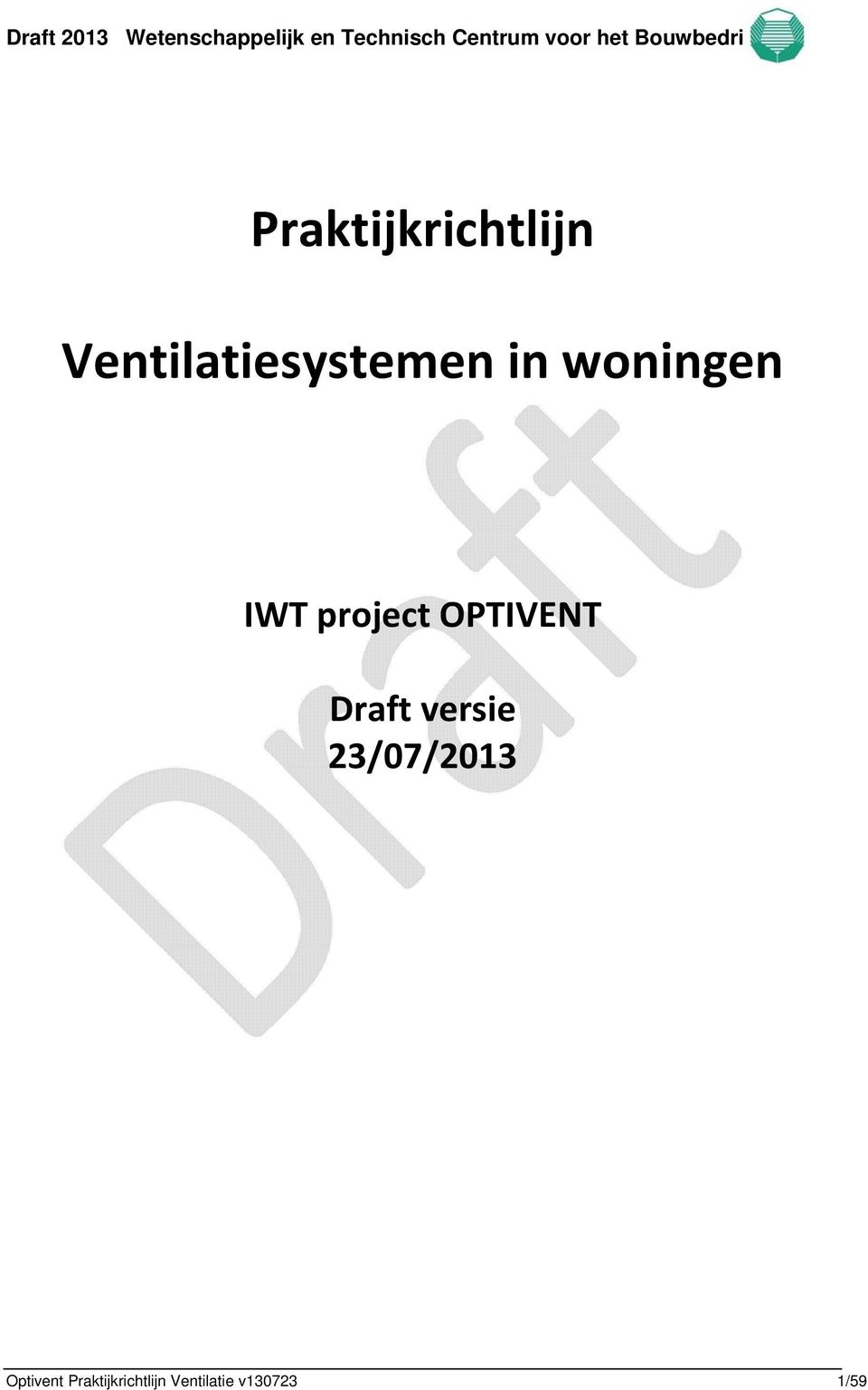 project OPTIVENT Draft versie