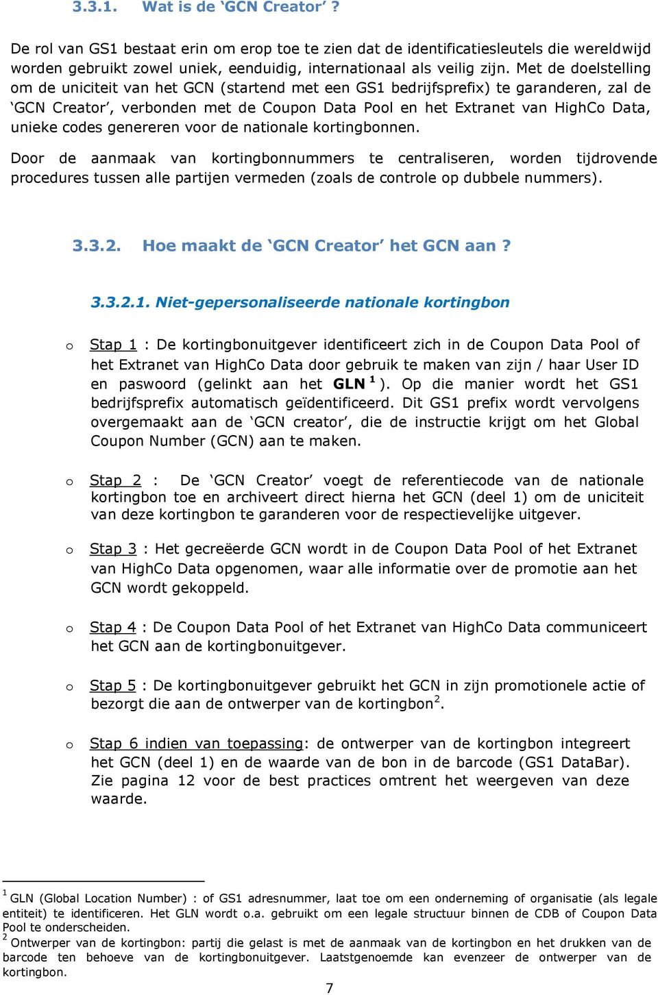 codes genereren voor de nationale kortingbonnen.