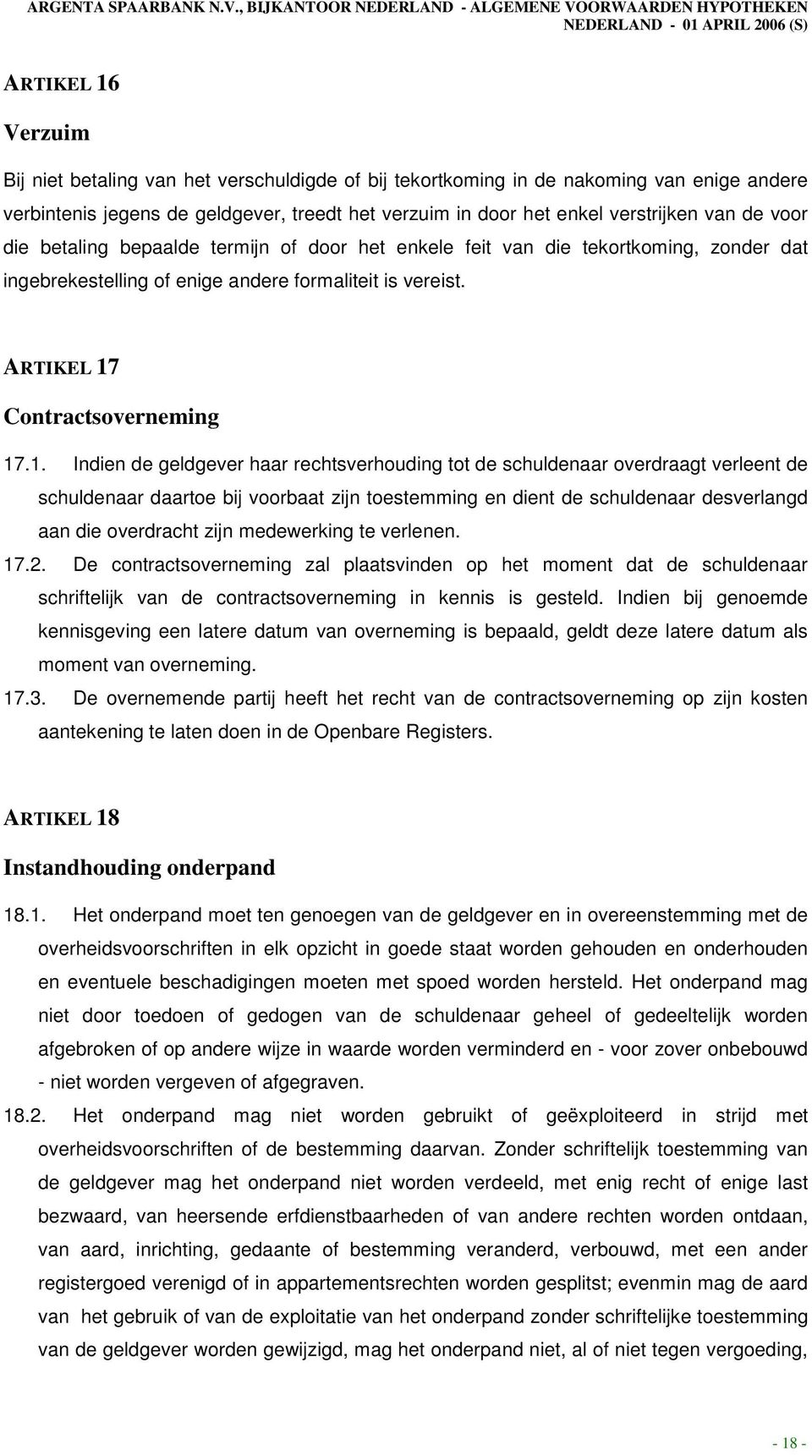 Contractsoverneming 17