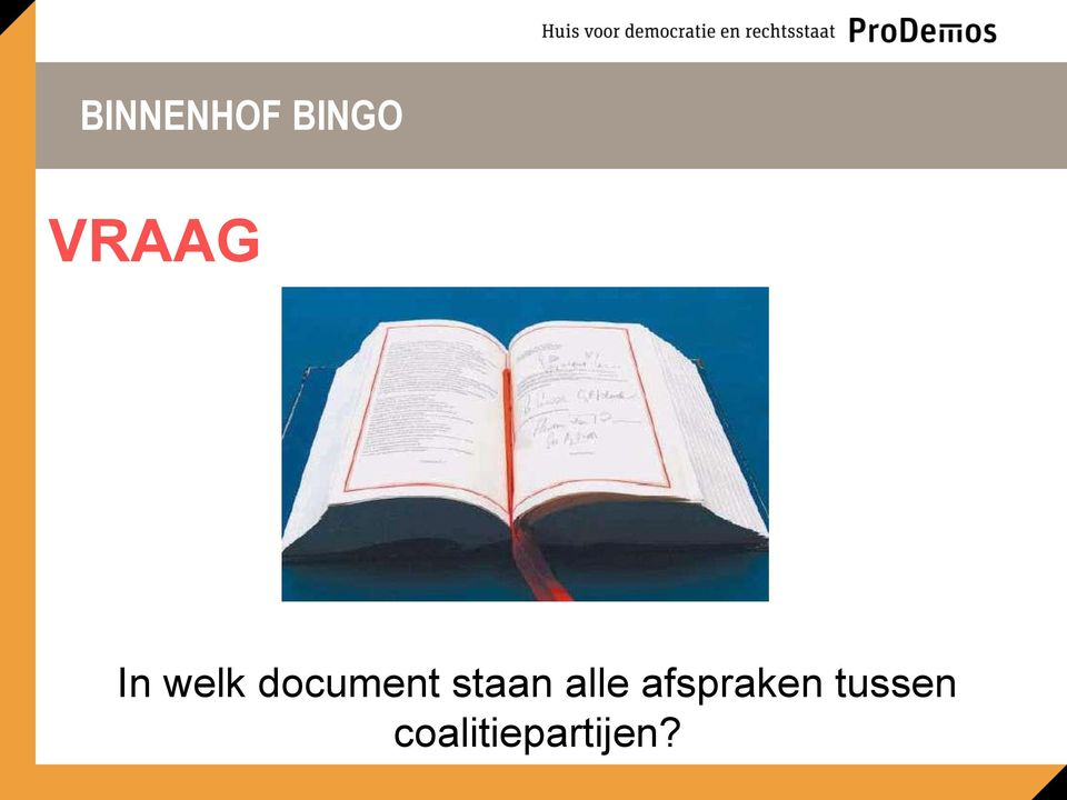 document staan alle