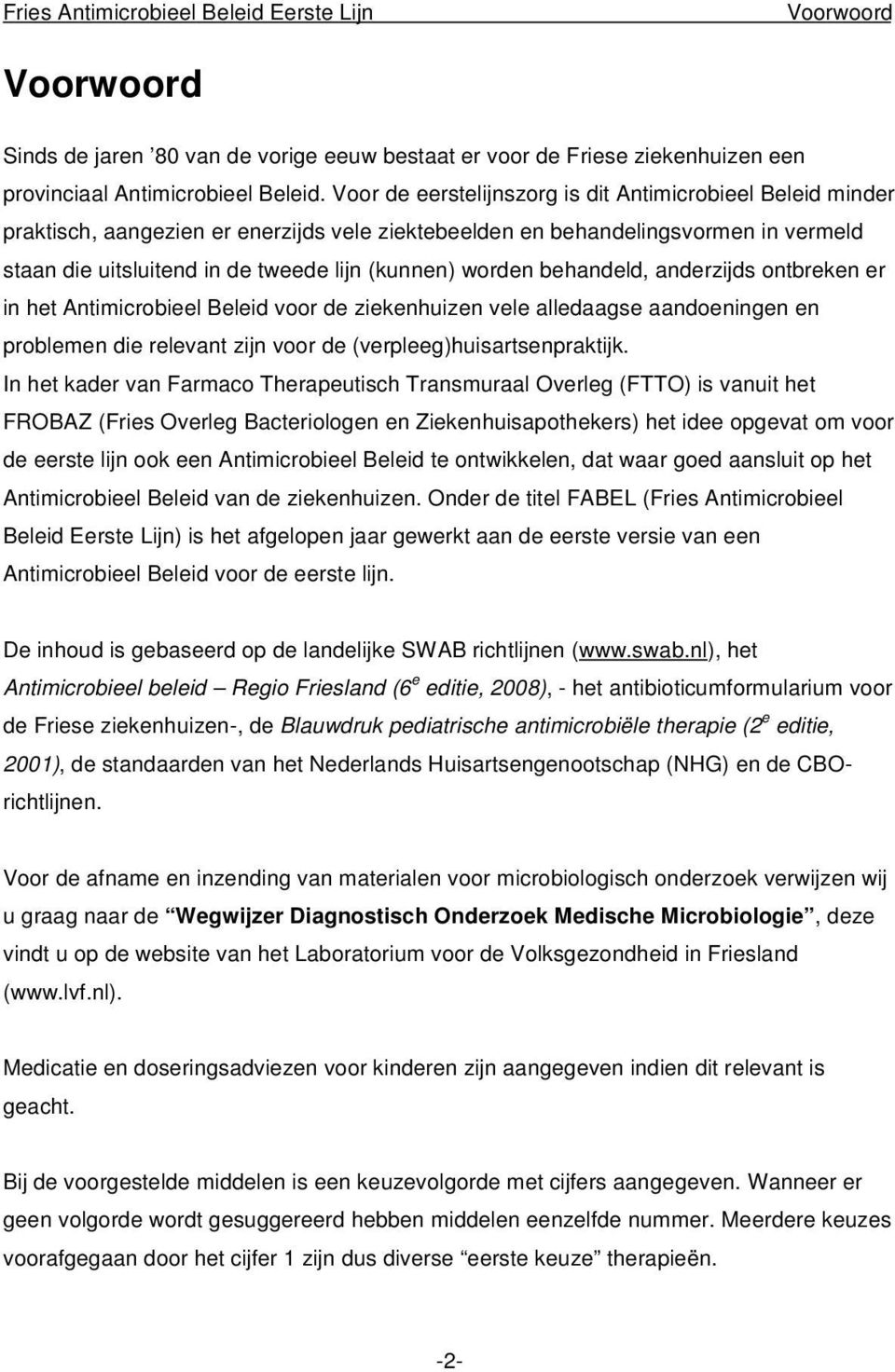 start en stopcriteria medicatie