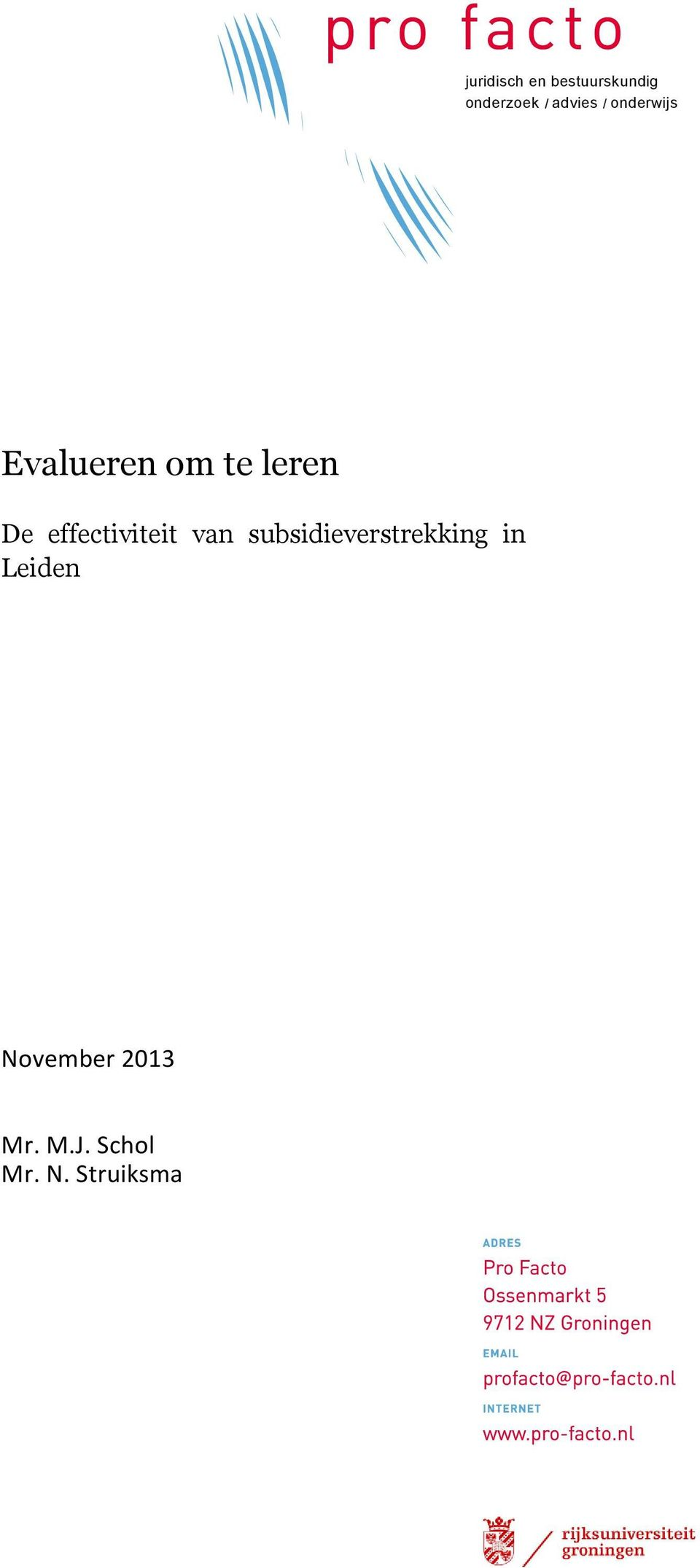 effectiviteit van subsidieverstrekking in