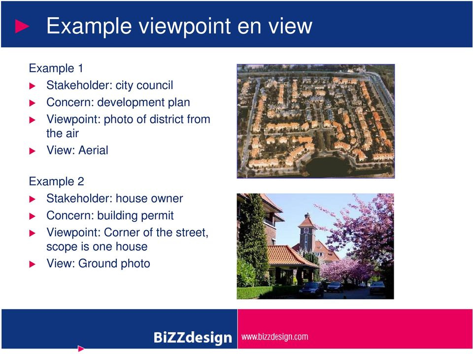 View: Aerial Example 2 Stakeholder: house owner Concern: building
