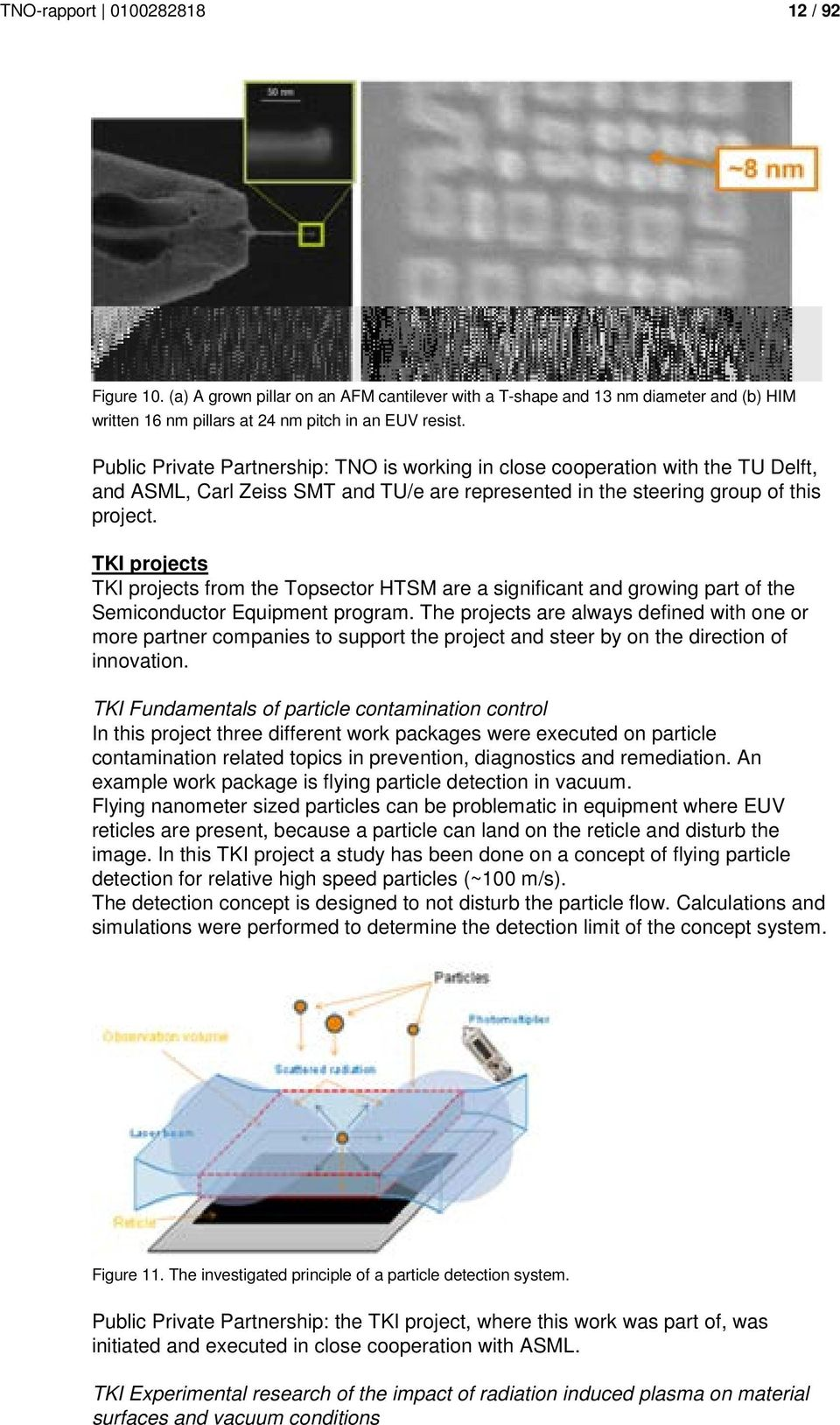 TKI projects TKI projects from the Topsector HTSM are a significant and growing part of the Semiconductor Equipment program.