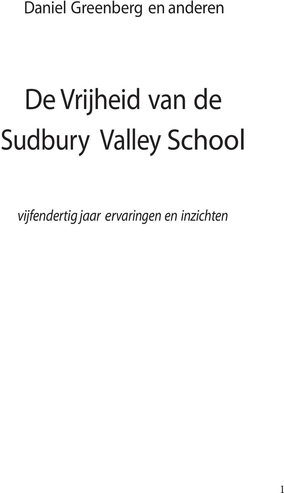 Valley School vijfendertig