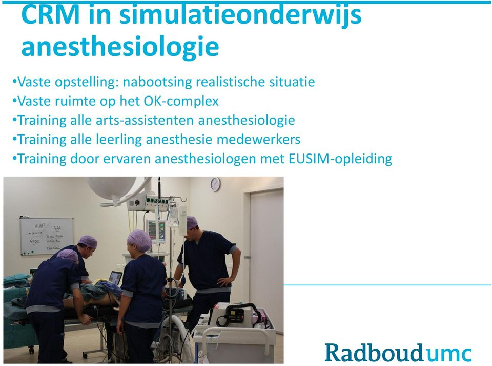 Training alle arts-assistenten anesthesiologie Training alle