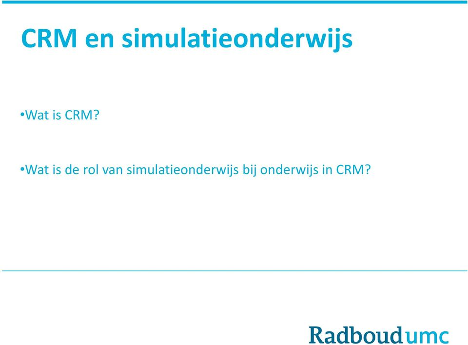 is CRM?
