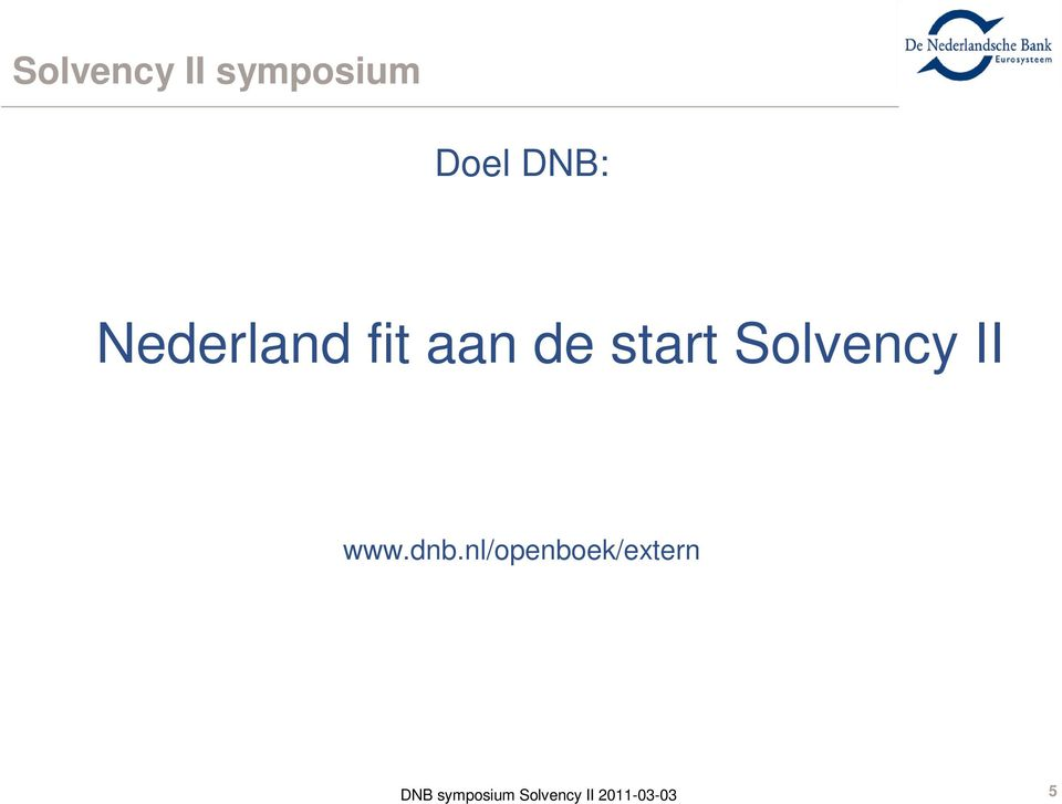 aan de start Solvency II