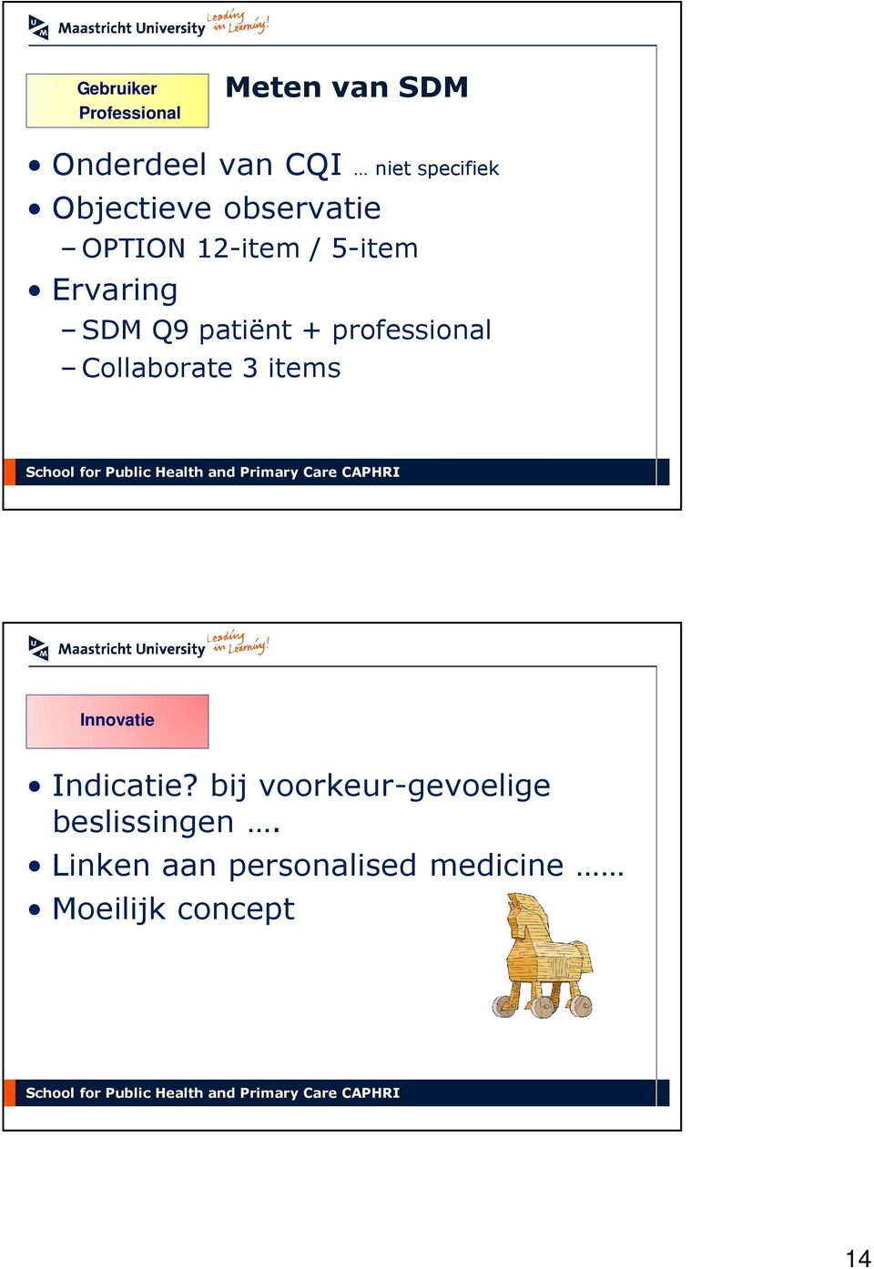 professional Collaborate 3 items Innovatie Indicatie?