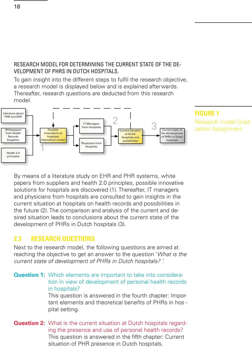 Thereafter, research questions are deducted from this research model. Literature about PHR and EHR Whitepapers from Health Records Suppliers Health 2.
