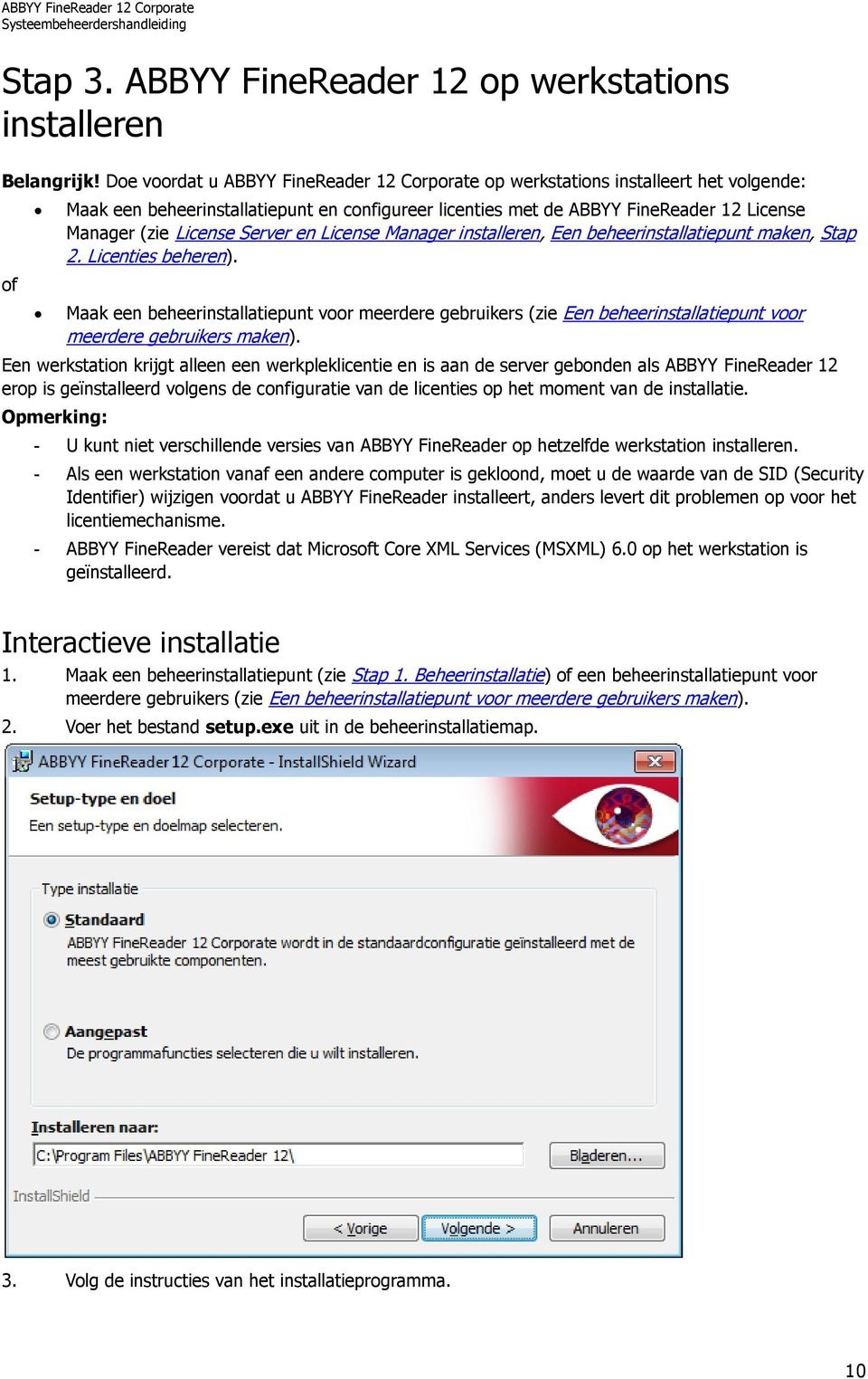 License Server en License Manager installeren, Een beheerinstallatiepunt maken, Stap 2. Licenties beheren).