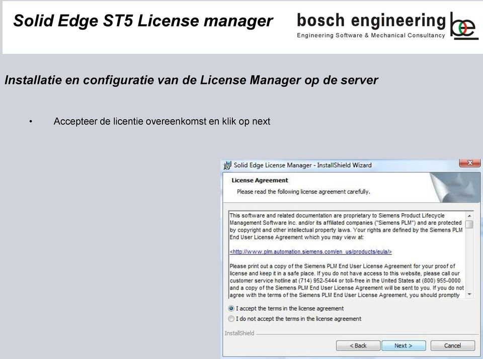 License Manager op de server