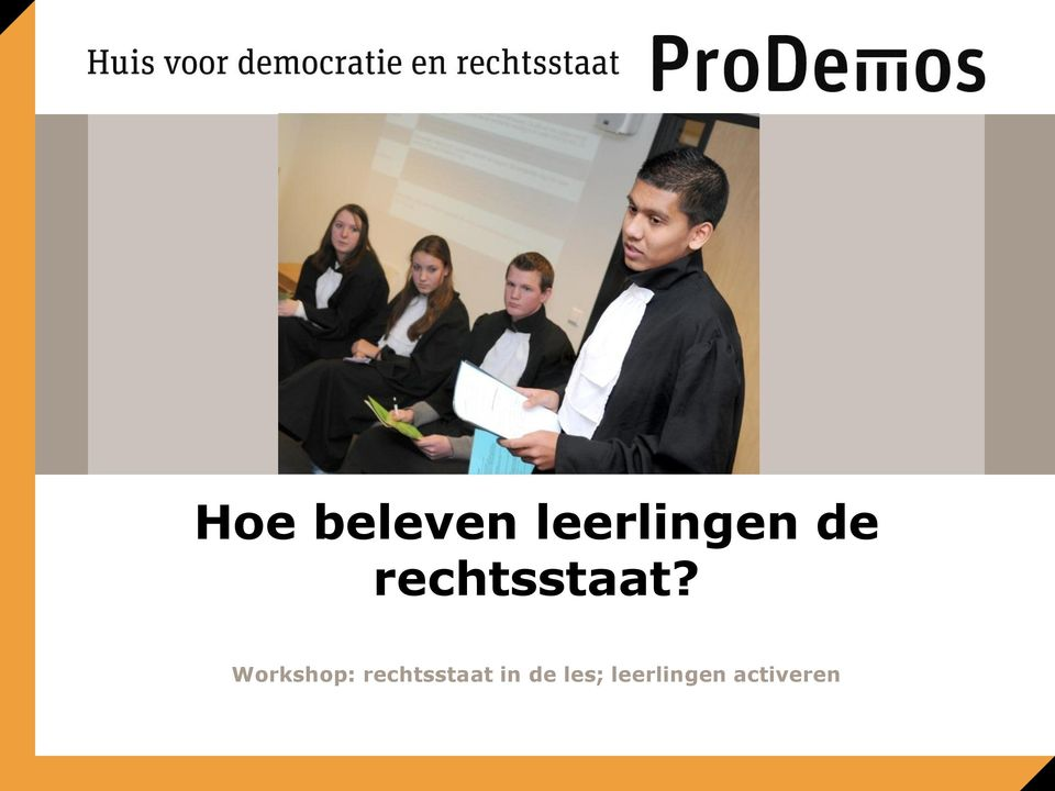 Workshop: rechtsstaat