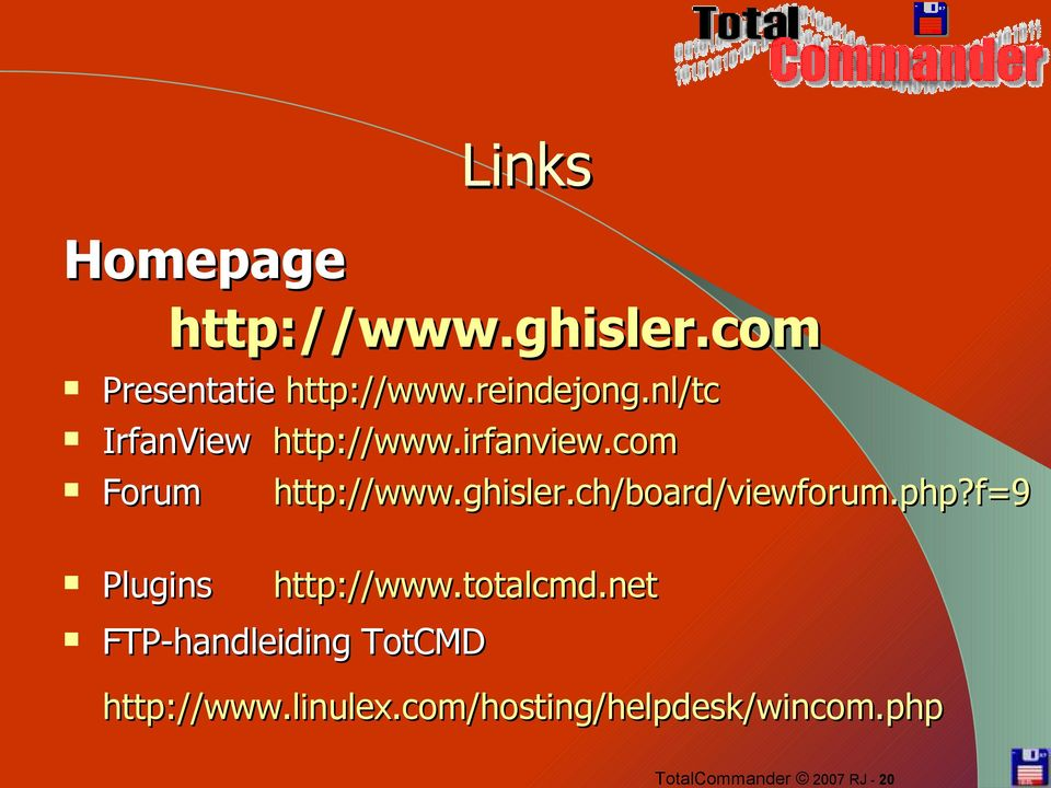 ch/board/viewforum.php?f=9 Plugins http://www.totalcmd.