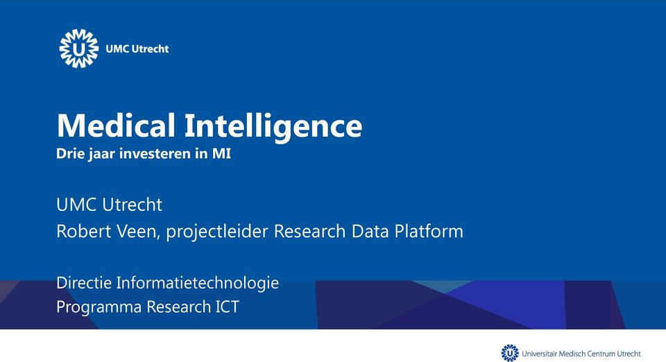 Veen, projectleider Research Data