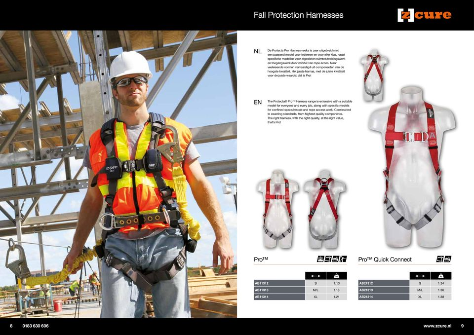 The Protecta Pro Harness range is extensive with a suitable model for everyone and every job, along with specific models for confined space/rescue and rope access work.