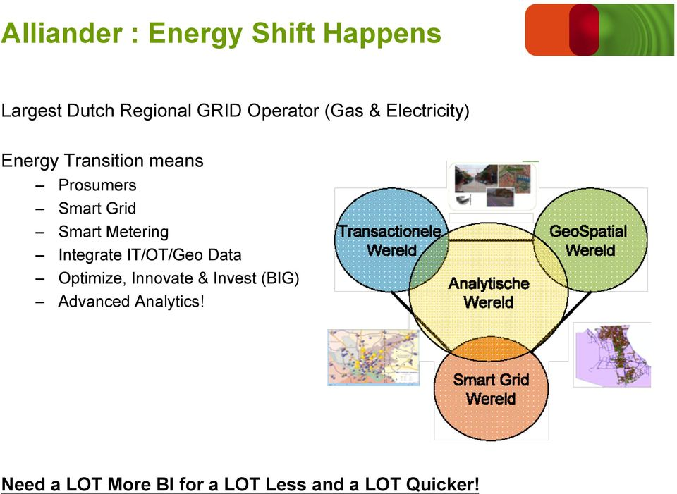 Metering Integrate IT/OT/Geo Data Optimize, Innovate & Invest (BIG)
