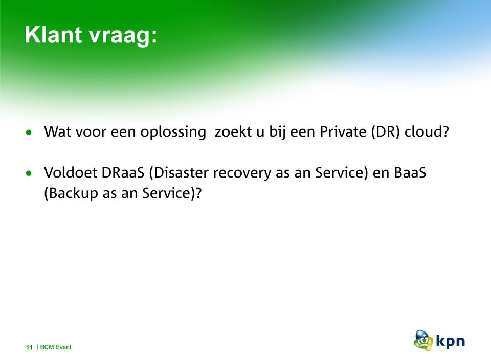 oldoet DRaaS (Disaster recovery as an