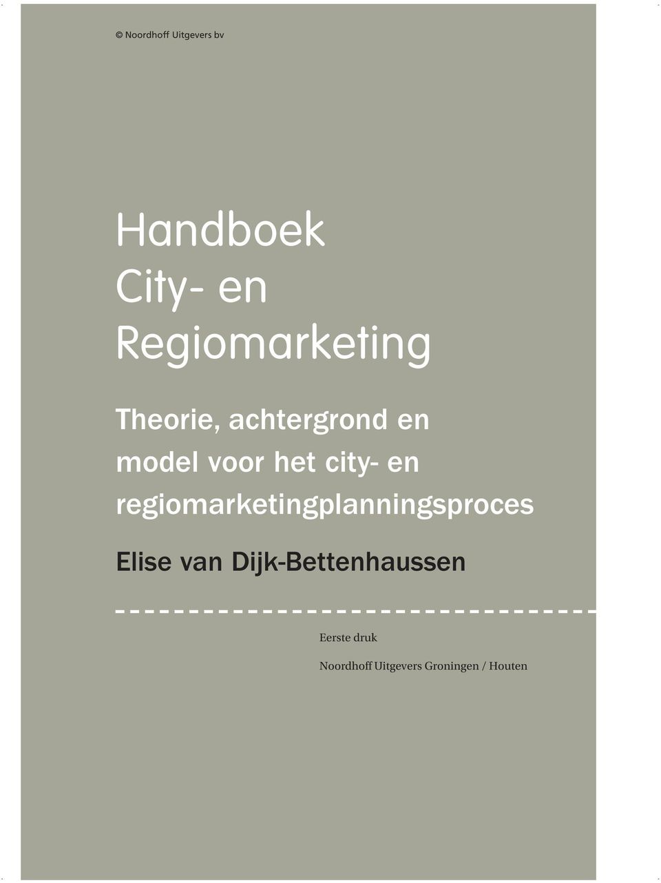 city- en regiomarketingplanningsproces Elise van