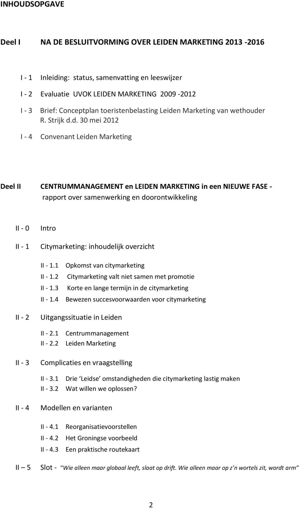 n Marketing van wethoude