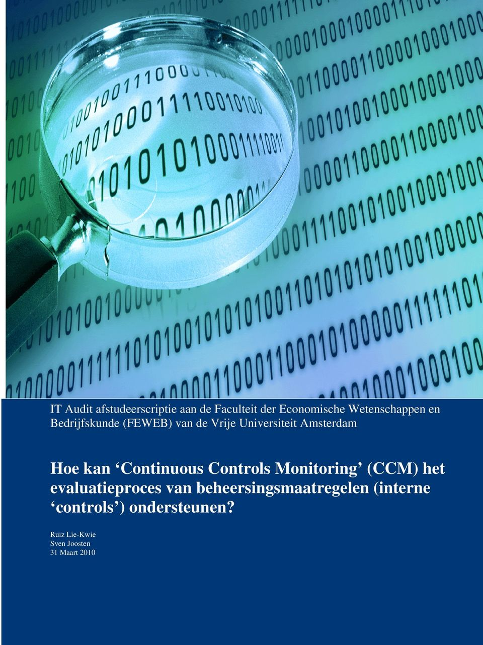 Continuous Controls Monitoring (CCM) het evaluatieproces van