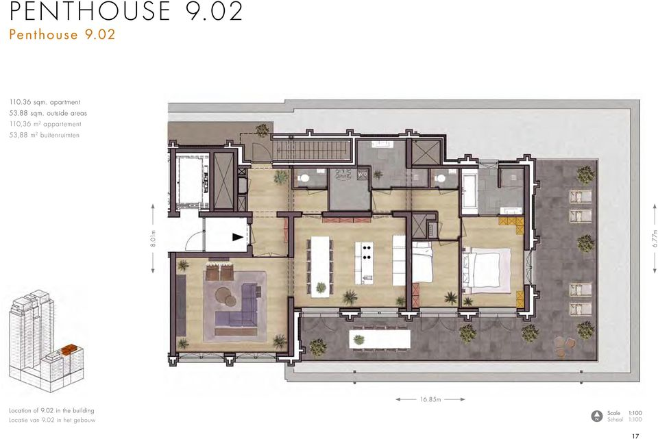 outside areas 110,36 m 2 appartement 53,88 m 2