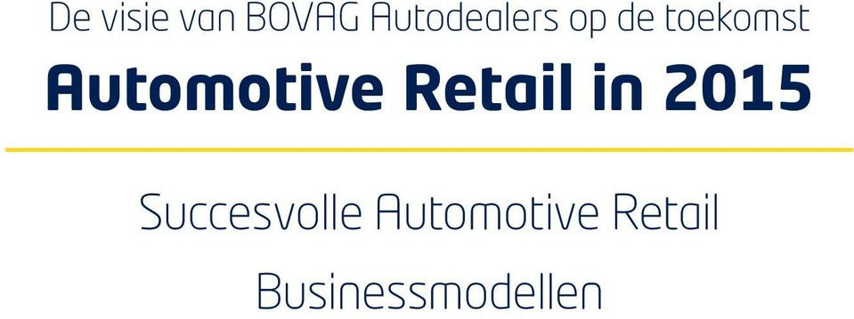 Automotive Retail in 2015