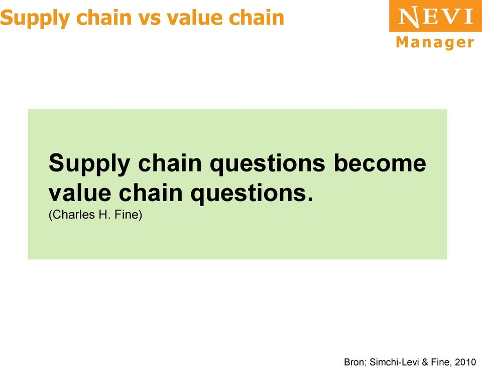 value chain questions.