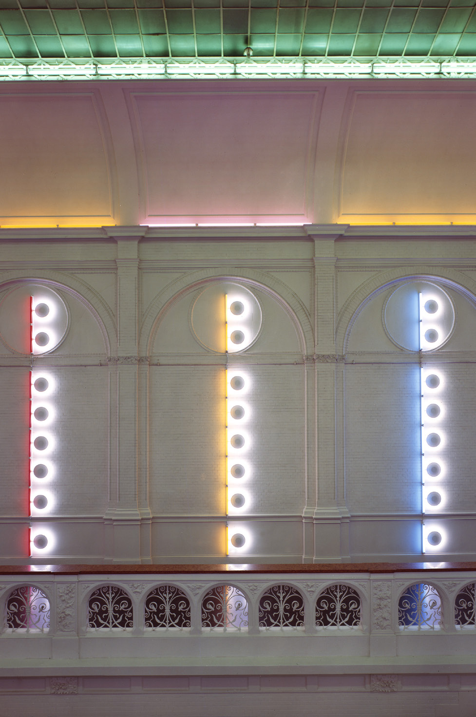 Dan Flavin untitled (to Piet Mondrian through his preferred colors, red, yellow and