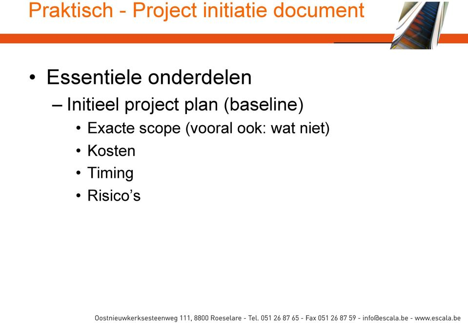 Initieel project plan (baseline)
