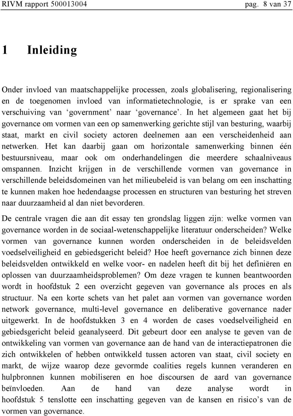 government naar governance.