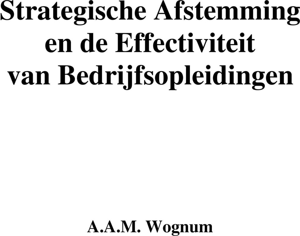 Effectiviteit van